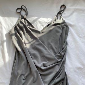 ASOS olive green wedding dress